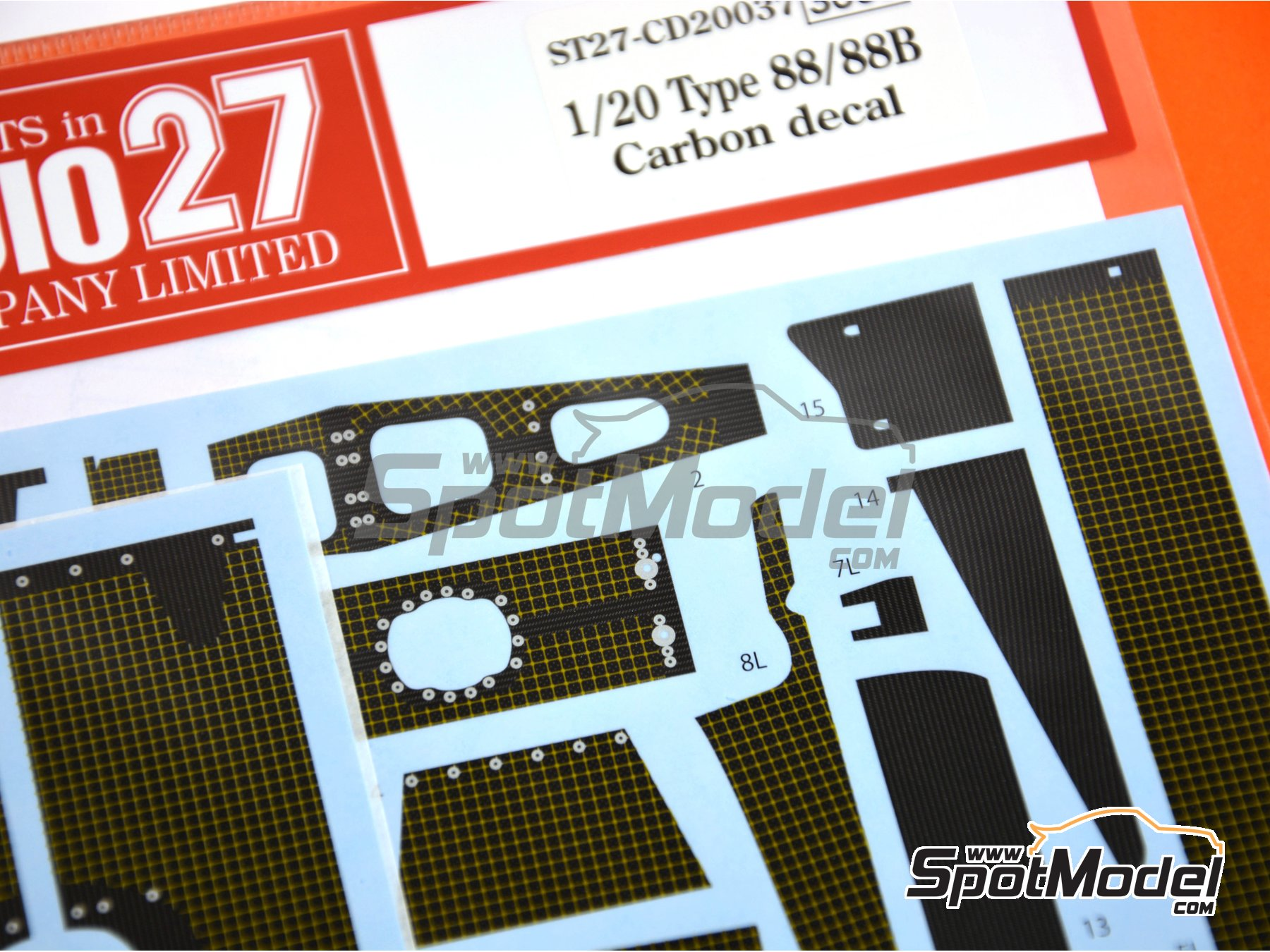 Image 2: Lotus Ford Type 88 | Carbon fibre pattern decal in 1/20 scale manufactured by Studio27 (ref.ST27-CD20037)