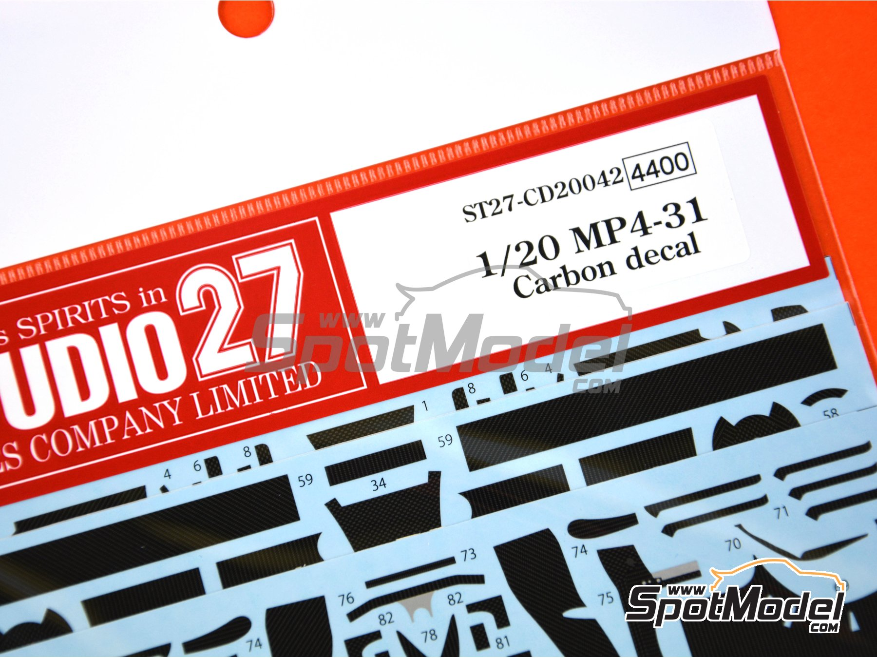 Image 4: McLaren Honda MP4/31 - FIA Formula 1 World Championship 2016 | Carbon fibre pattern decal in 1/20 scale manufactured by Studio27 (ref. ST27-CD20042)