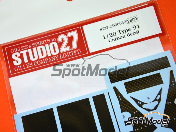 Image 3: Lotus Ford Type 91 | Carbon fibre pattern decal in 1/20 scale manufactured by Studio27 (ref. ST27-CD20043)