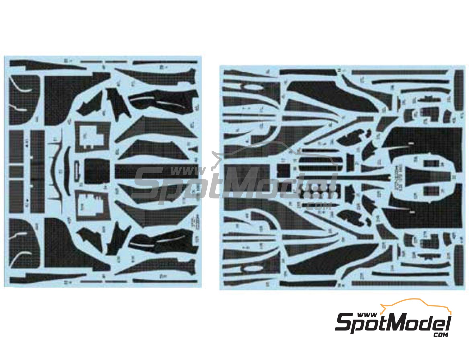 Image 1: Lotus Ford 107B | Carbon fibre pattern decal in 1/20 scale manufactured by Studio27 (ref.ST27-CD20044)