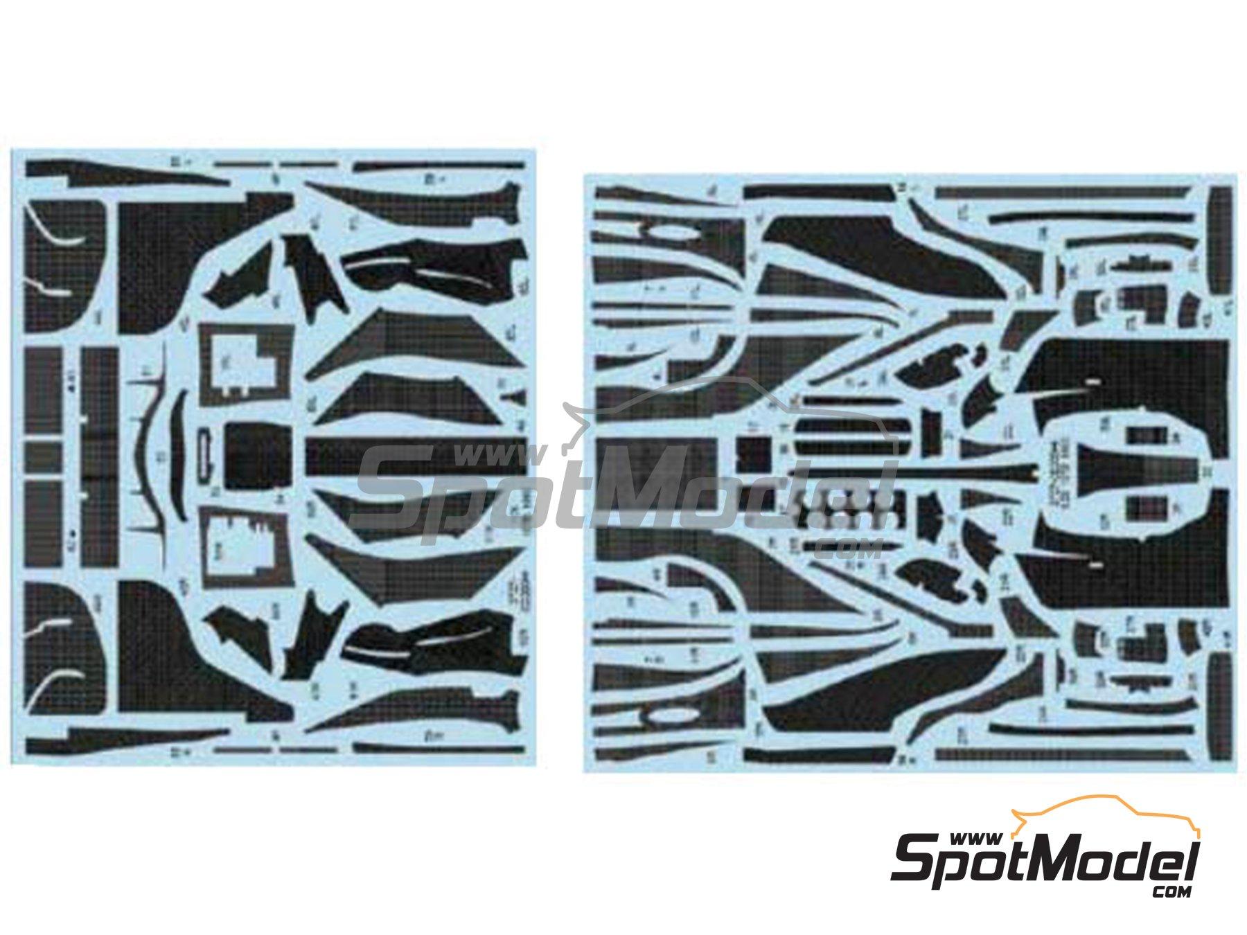 Image 1: Lotus Ford 107B | Patron de fibra de carbono en calca en escala1/20 fabricado por Studio27 (ref.ST27-CD20044)