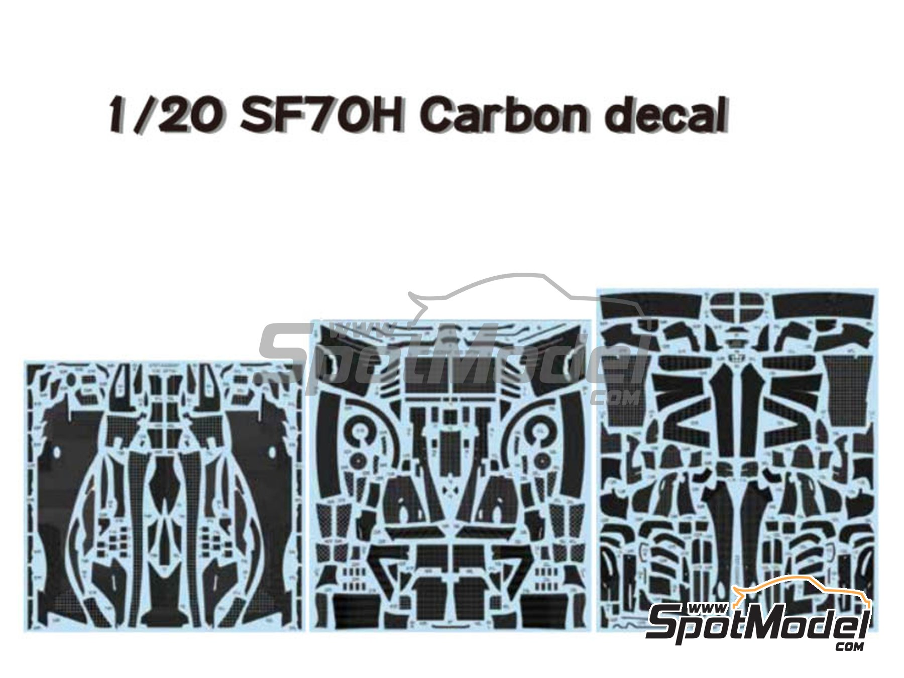 Image 1: Ferrari SF70H | Carbon fibre pattern decal in 1/20 scale manufactured by Studio27 (ref. ST27-CD20047)