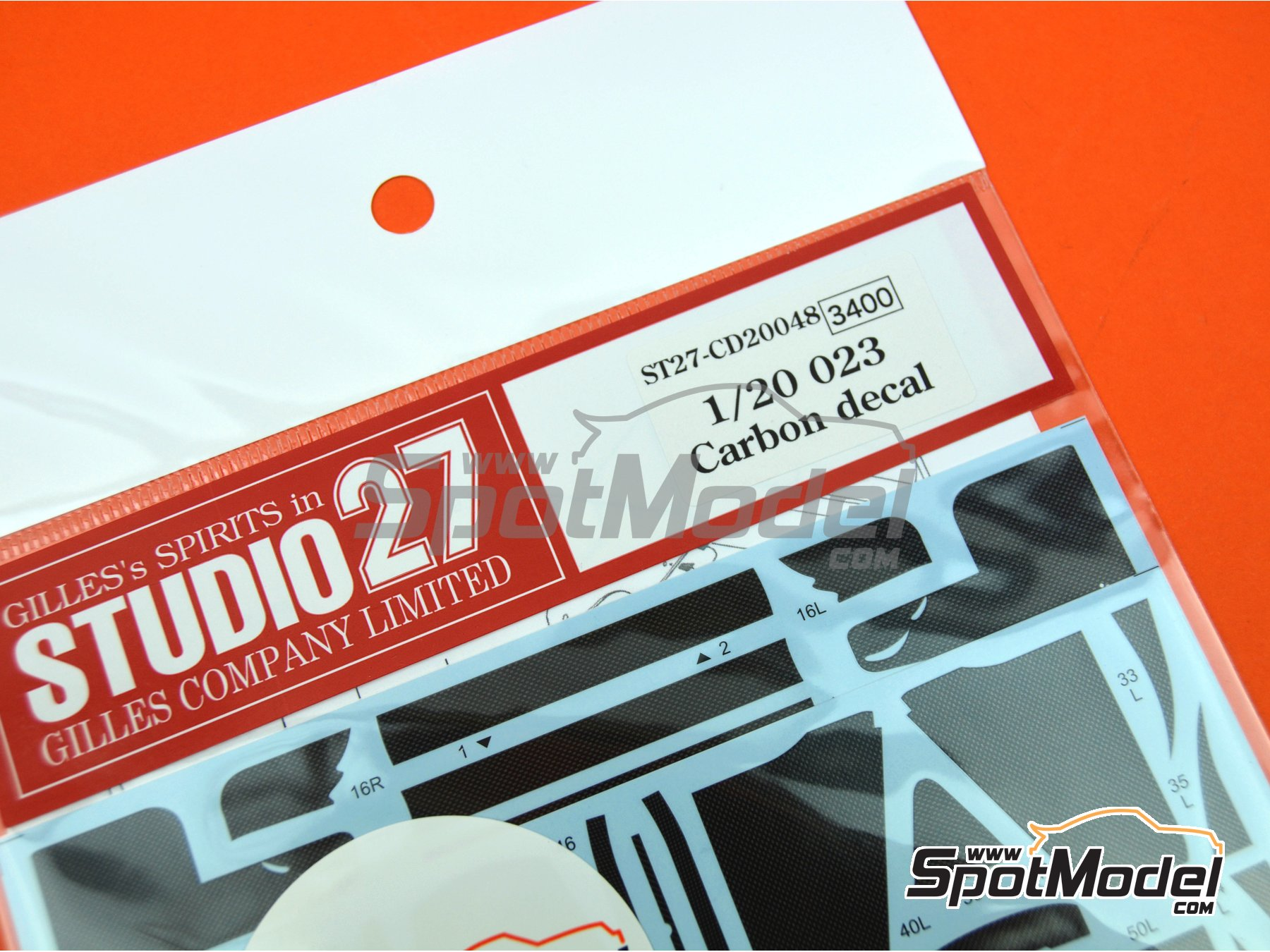 Image 5: Tyrrell Yamaha 023 | Carbon fibre pattern decal in 1/20 scale manufactured by Studio27 (ref.ST27-CD20048)