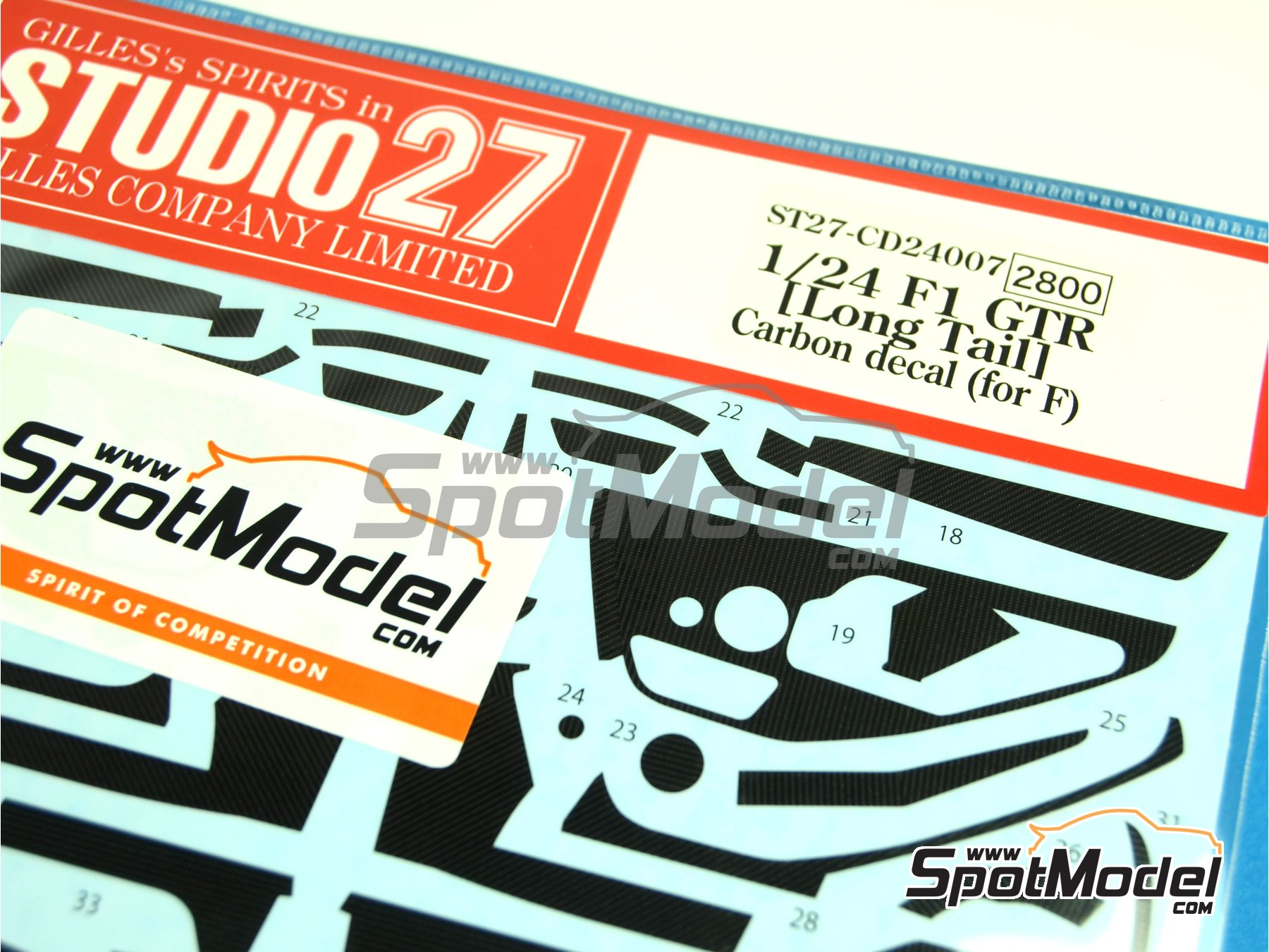 Image 3: McLaren F1 GTR Long Tail | Carbon fibre pattern decal in 1/24 scale manufactured by Studio27 (ref.ST27-CD24007)