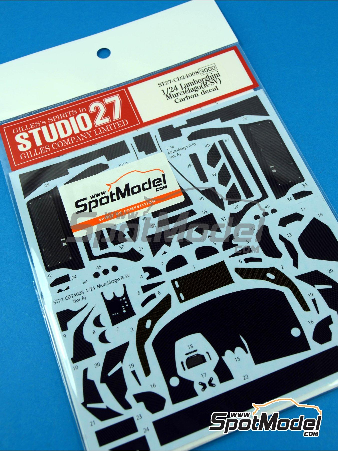 Lamborghini Murcielago R-SV | Patron de fibra de carbono en calca en escala1/24 fabricado por Studio27 (ref.ST27-CD24008) image