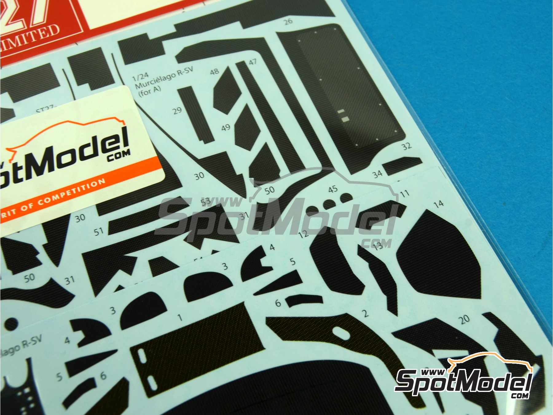 Image 7: Lamborghini Murcielago R-SV | Carbon fibre pattern decal in 1/24 scale manufactured by Studio27 (ref. ST27-CD24008)
