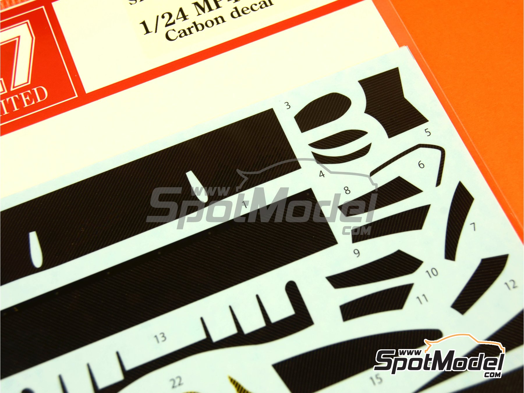 Image 4: McLaren MP4-12C GT3 | Carbon fibre pattern decal in 1/24 scale manufactured by Studio27 (ref. ST27-CD24011)