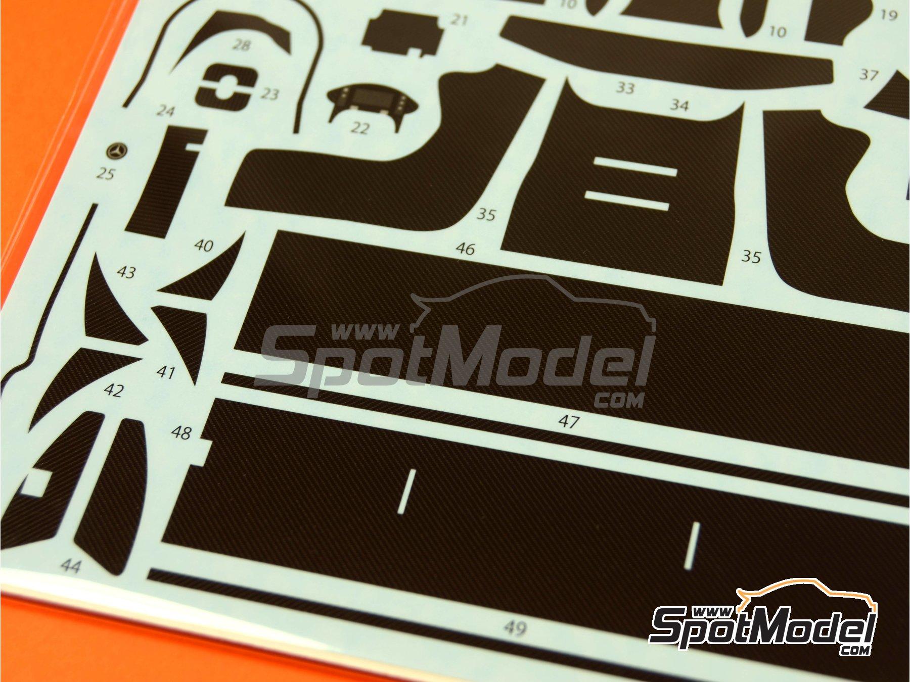 Image 2: Mercedes Benz SLS AMG GT3 | Patron de fibra de carbono en calca en escala1/24 fabricado por Studio27 (ref.ST27-CD24012)