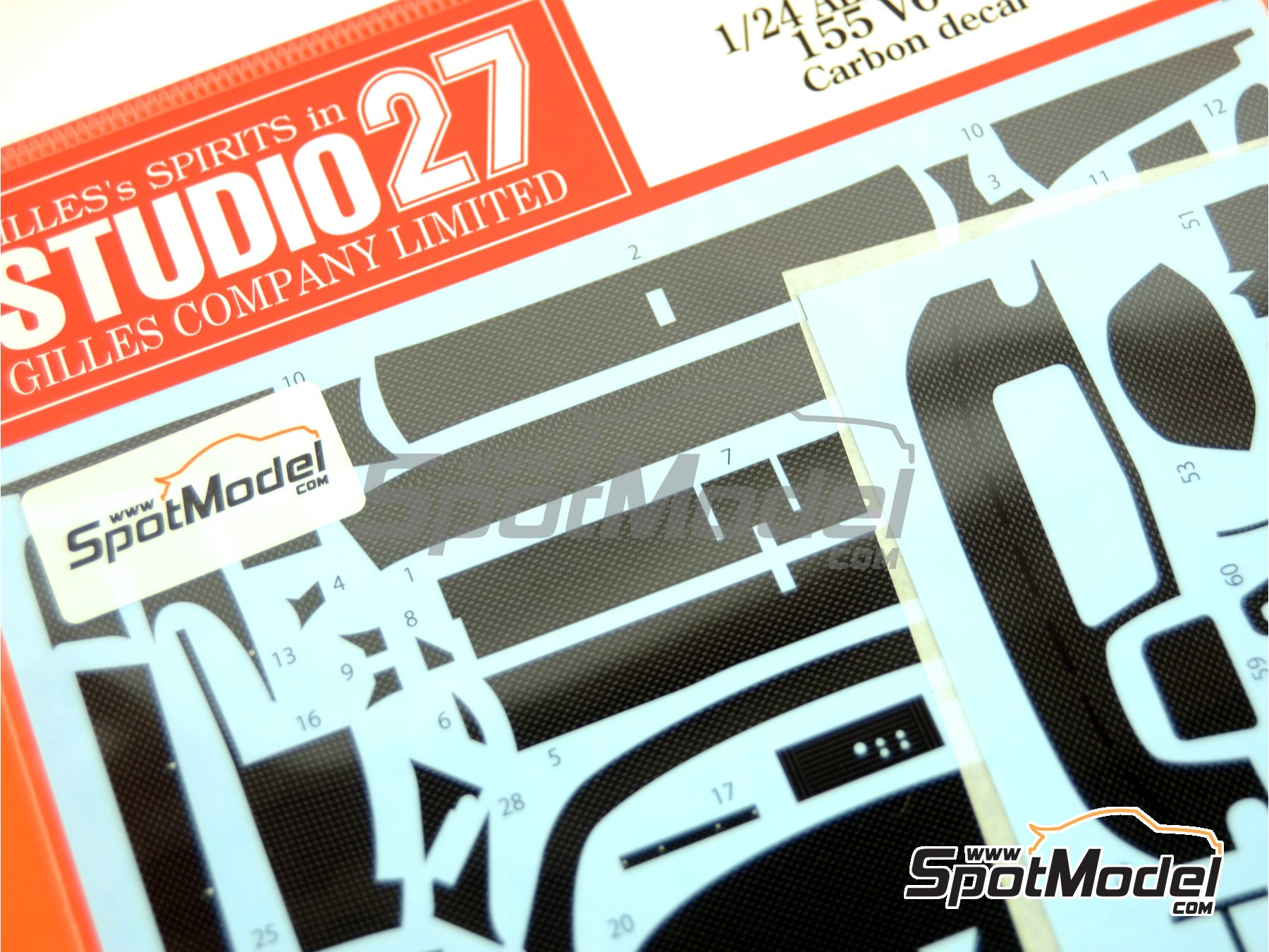 Image 2: Alfa Romeo 155 V6 TI - DTM 1993 and 1994 | Carbon fibre pattern decal in 1/24 scale manufactured by Studio27 (ref. ST27-CD24013)