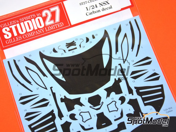 Image 1: Honda Acura NSX | Carbon fibre pattern decal in 1/24 scale manufactured by Studio27 (ref.ST27-CD24020)
