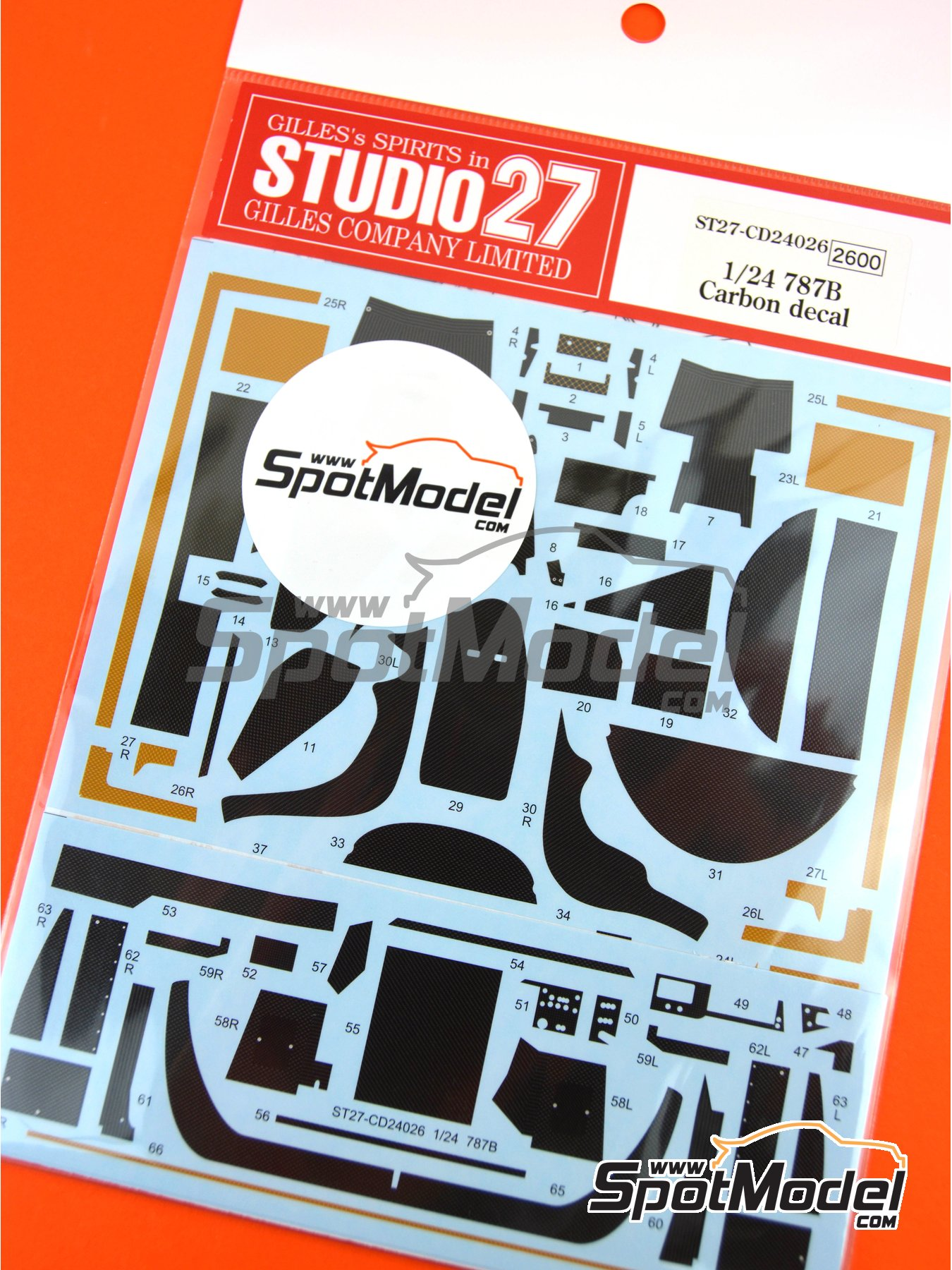 Mazda 787B | Carbon fibre pattern decal in 1/24 scale manufactured by Studio27 (ref. ST27-CD24026) image