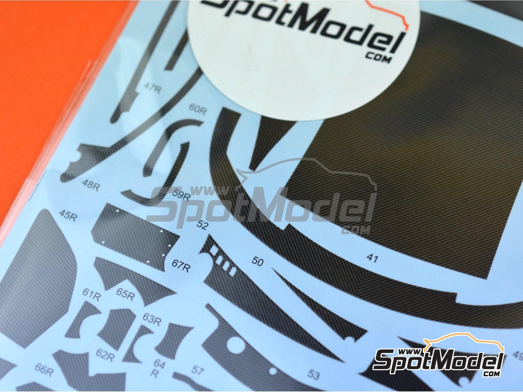 Image 2: BMW M6 GT3 | Carbon fibre pattern decal in 1/24 scale manufactured by Studio27 (ref. ST27-CD24028)