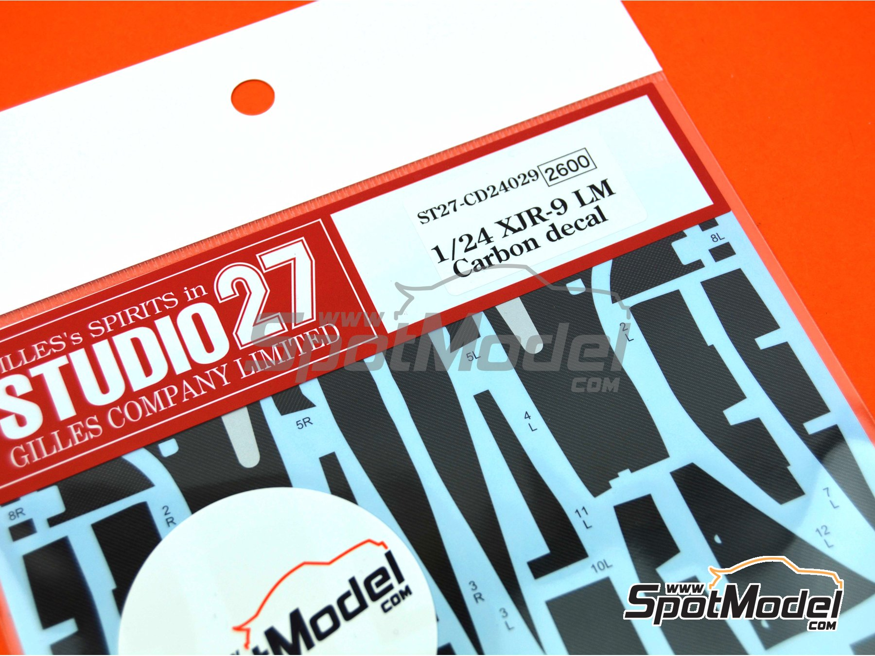 Image 1: Jaguar XJR-9 | Carbon fibre pattern decal in 1/24 scale manufactured by Studio27 (ref. ST27-CD24029)