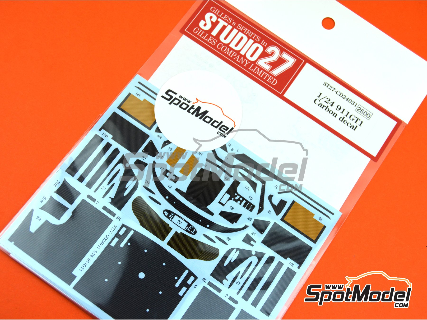 Image 3: Porsche 911 GT1 | Carbon fibre pattern decal in 1/24 scale manufactured by Studio27 (ref. ST27-CD24031)