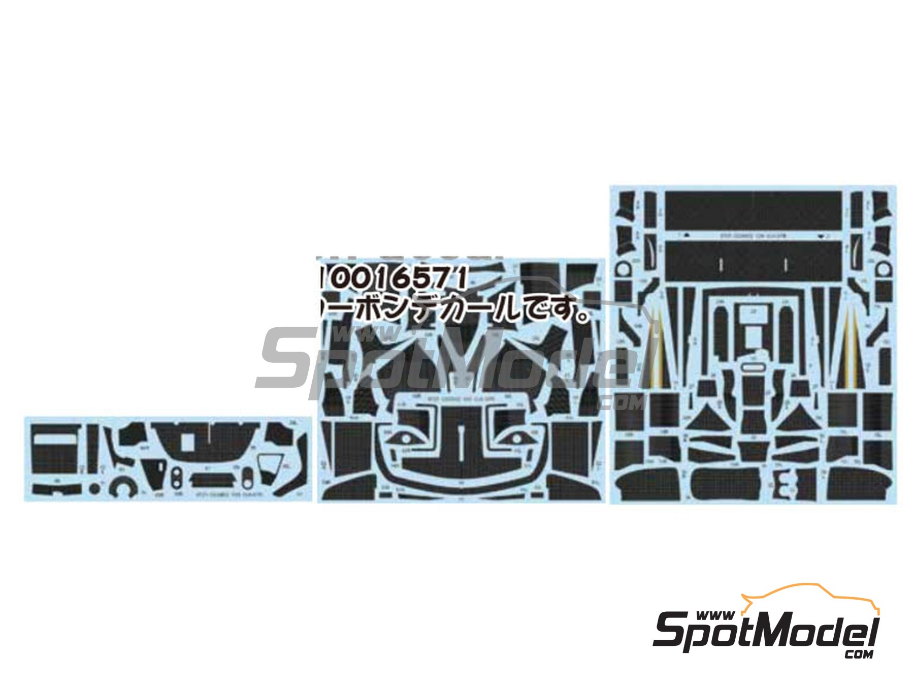 Image 1: Mercedes CLK-GTR | Carbon fibre pattern decal in 1/24 scale manufactured by Studio27 (ref.ST27-CD24032)