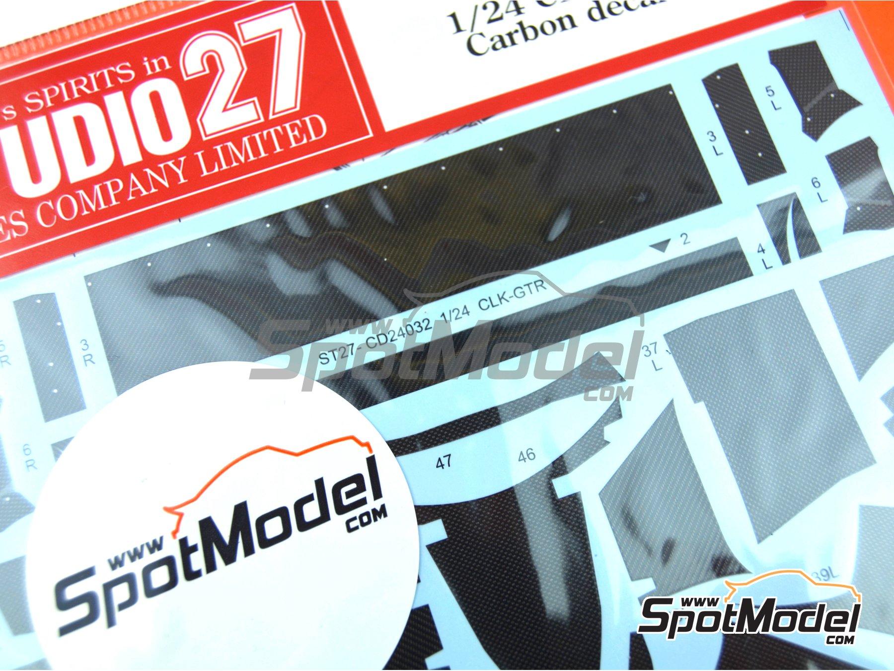 Image 2: Mercedes CLK-GTR | Patron de fibra de carbono en calca en escala1/24 fabricado por Studio27 (ref.ST27-CD24032)