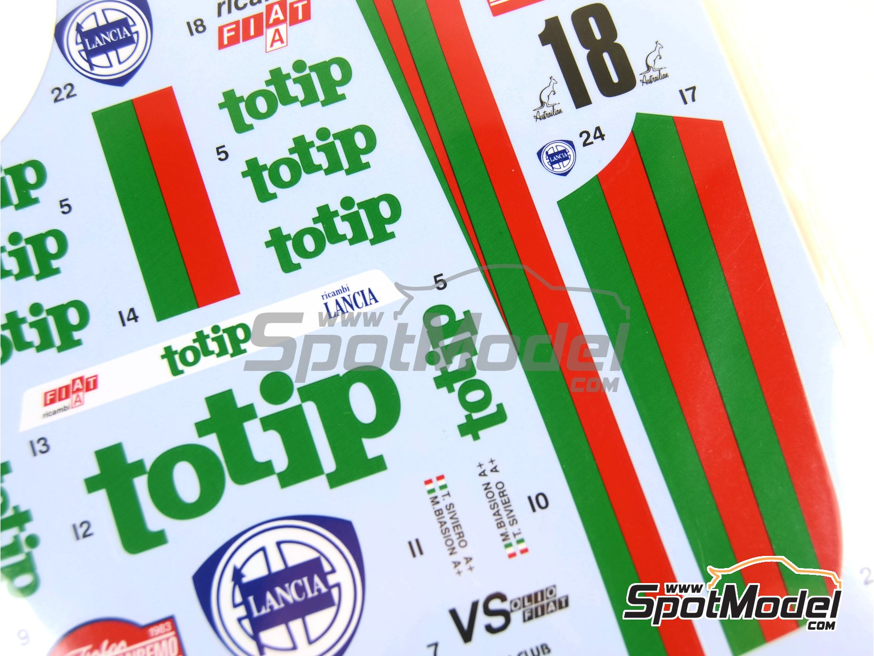 Image 1: Lancia Rally 037 Totip - Sanremo Rally 1983 | Marking / livery in 1/24 scale manufactured by Studio27 (ref.ST27-DC097D)