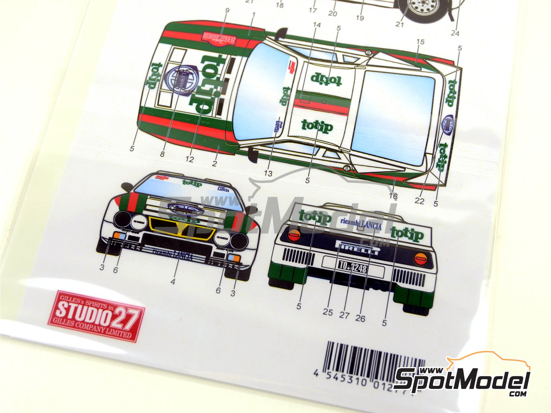 Image 7: Lancia Rally 037 Totip - Sanremo Rally 1983 | Marking / livery in 1/24 scale manufactured by Studio27 (ref.ST27-DC097D)
