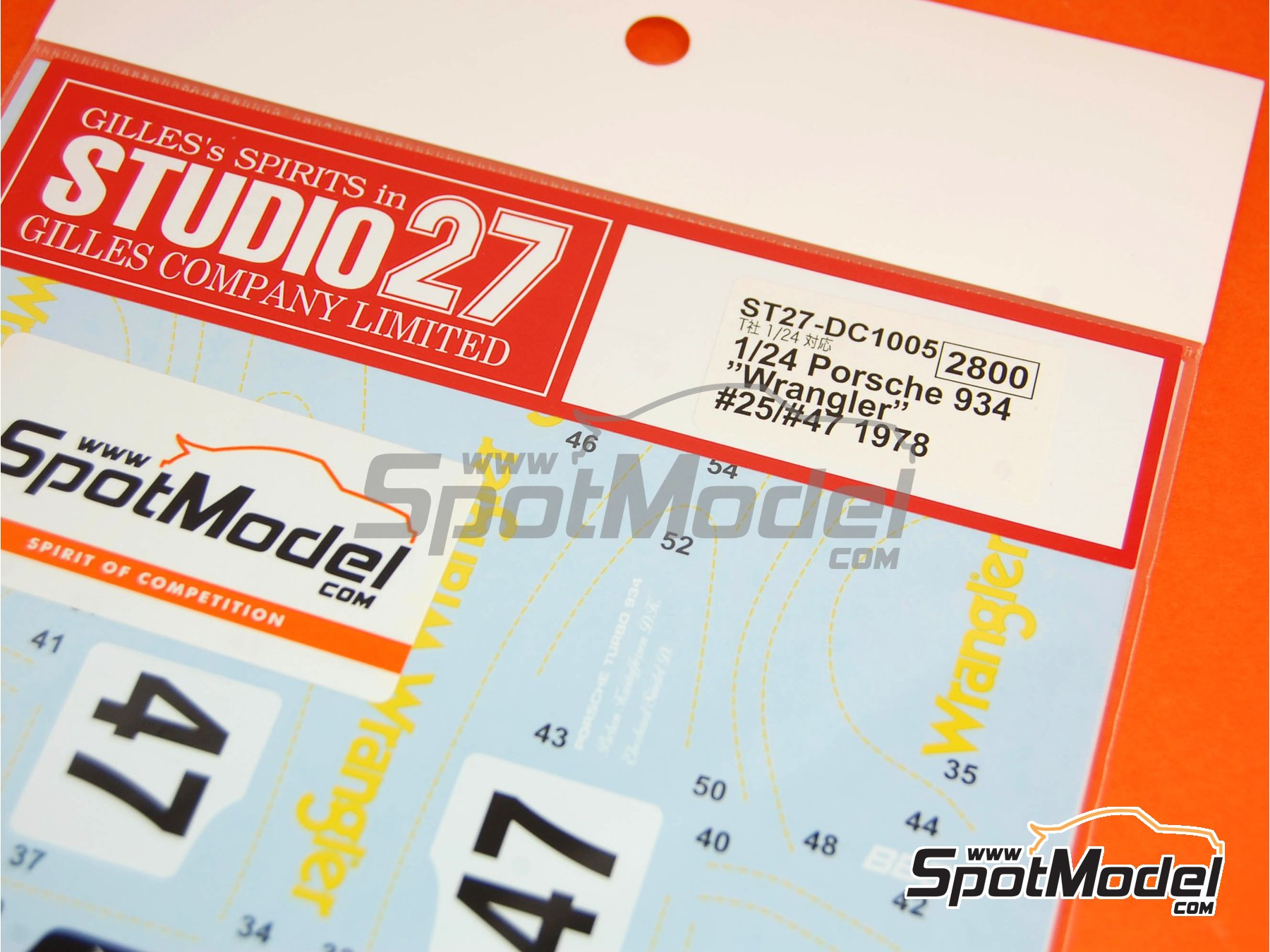 Image 3: Porsche 934 Turbo RSR Group 4 Wrangler - 24 Hours Le Mans 1978 | Marking / livery in 1/24 scale manufactured by Studio27 (ref.ST27-DC1005)