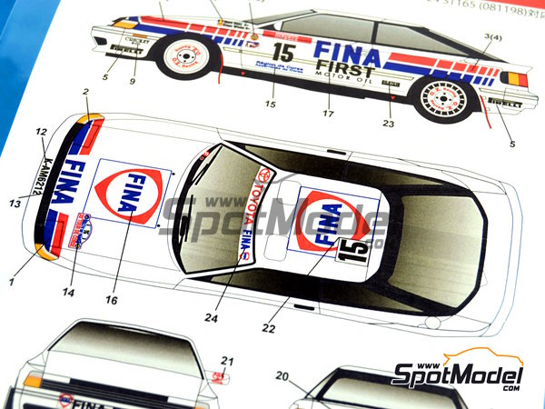 Image 5: Toyota Celica GT-Four ST165 Fina - Alsace France Rally 1991 | Marking / livery in 1/24 scale manufactured by Studio27 (ref.ST27-DC1020)