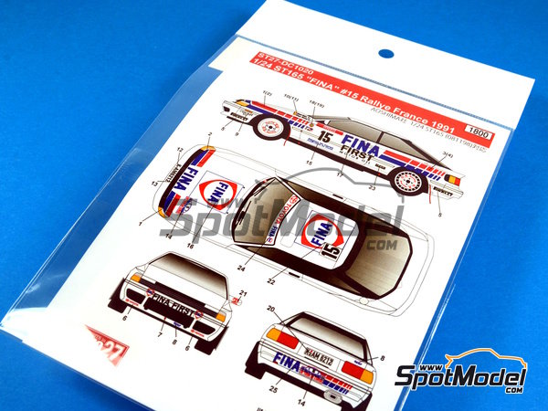 Image 7: Toyota Celica GT-Four ST165 Fina - Alsace France Rally 1991 | Marking / livery in 1/24 scale manufactured by Studio27 (ref.ST27-DC1020)