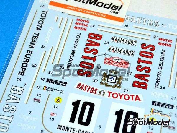 Image 2: Toyota Celica GT-Four ST165 Bastos - Rally de Montecarlo 1989 | Calcas de agua en escala1/24 fabricado por Studio27 (ref.ST27-DC1021)