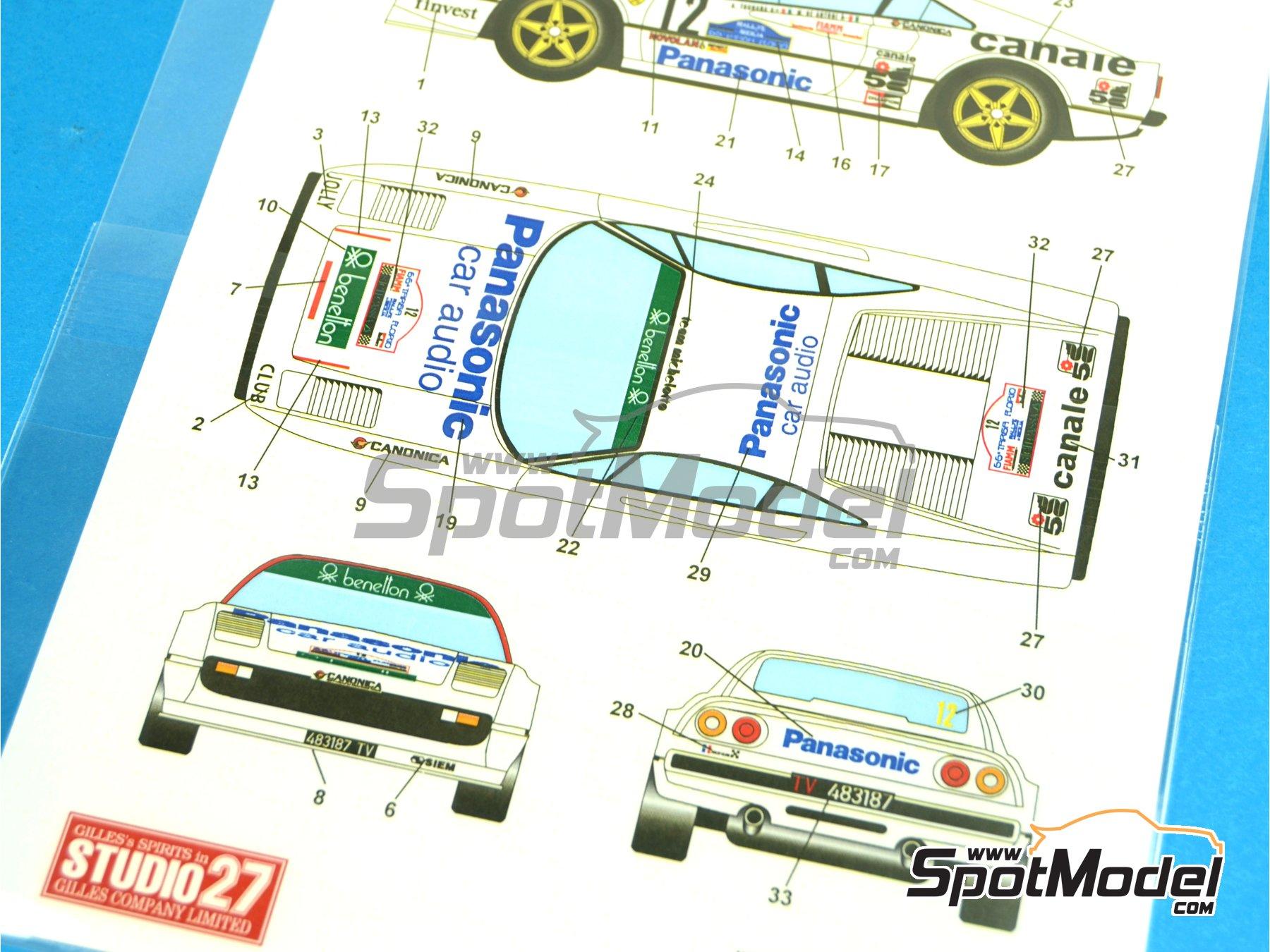 Image 3: Ferrari 308 GTB Panasonic - Targa Florio 1982 | Decoración en escala1/24 fabricado por Studio27 (ref.ST27-DC1025)