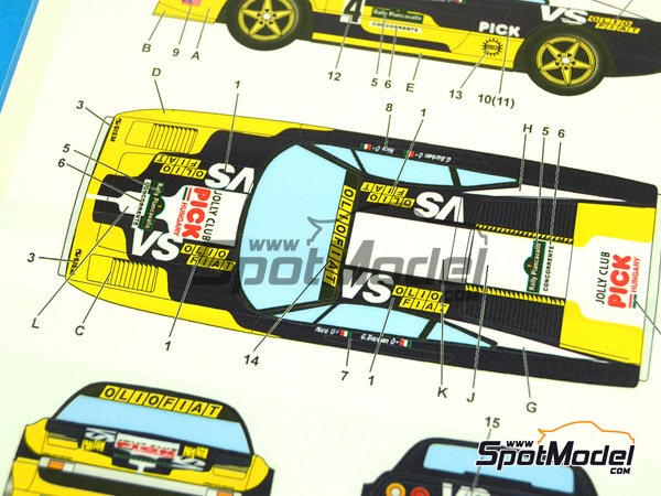 Image 6: Ferrari 308 GTB Jolly Club Pick - Rally Piancavallo 1980 | Marking / livery in 1/24 scale manufactured by Studio27 (ref.ST27-DC1026)