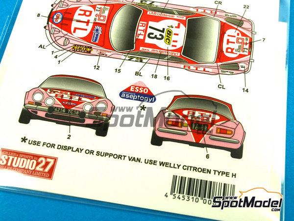 Image 5: Renault Alpine A110 BIC - Tour de France Automobile 1972 | Marking / livery in 1/24 scale manufactured by Studio27 (ref.ST27-DC1029)