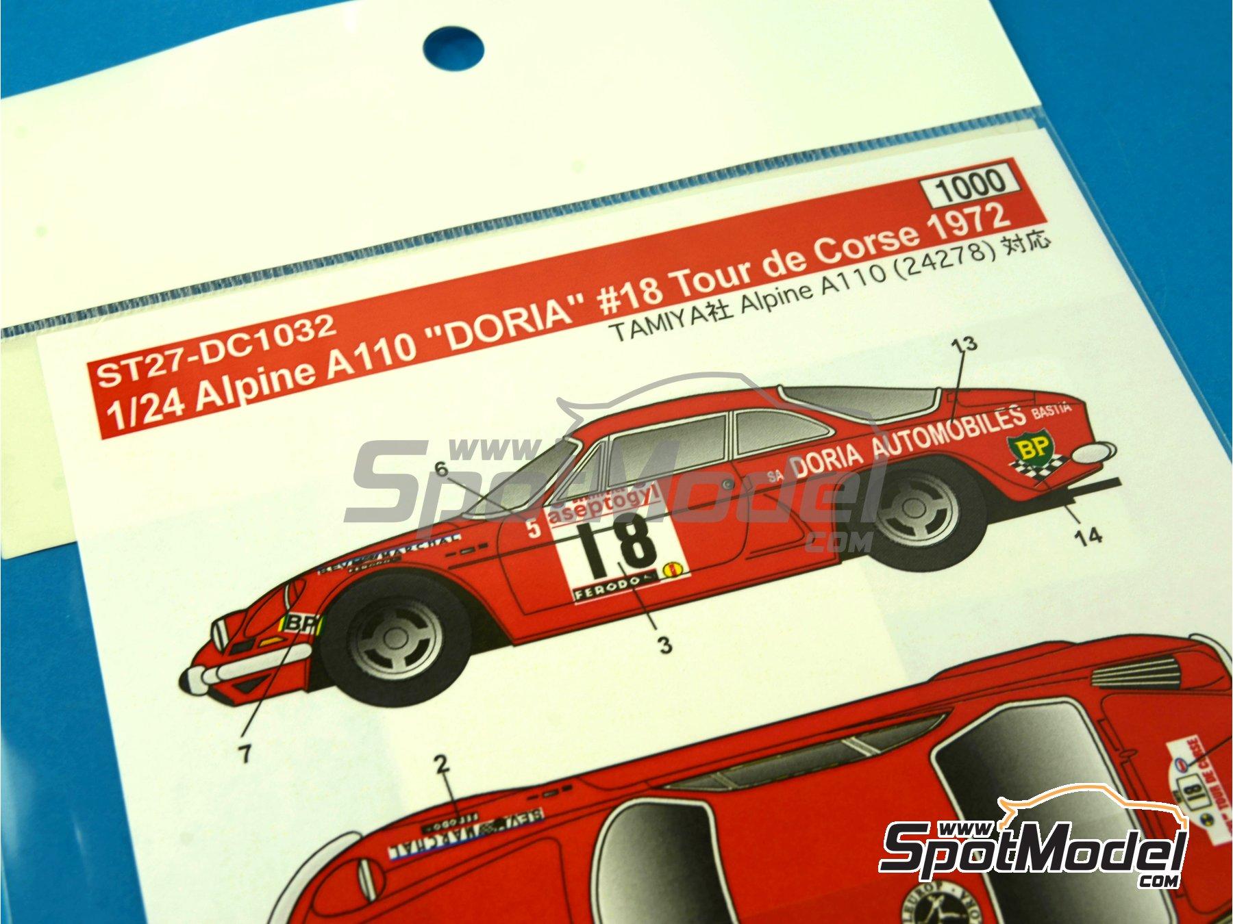 Image 2: Renault Alpine A110 Doria - Rally Tour de Corse 1972 | Decoración en escala1/24 fabricado por Studio27 (ref.ST27-DC1032)