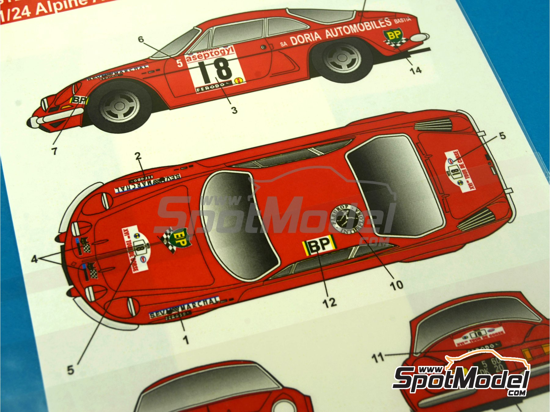 Image 3: Renault Alpine A110 Doria - Rally Tour de Corse 1972 | Decoración en escala1/24 fabricado por Studio27 (ref.ST27-DC1032)