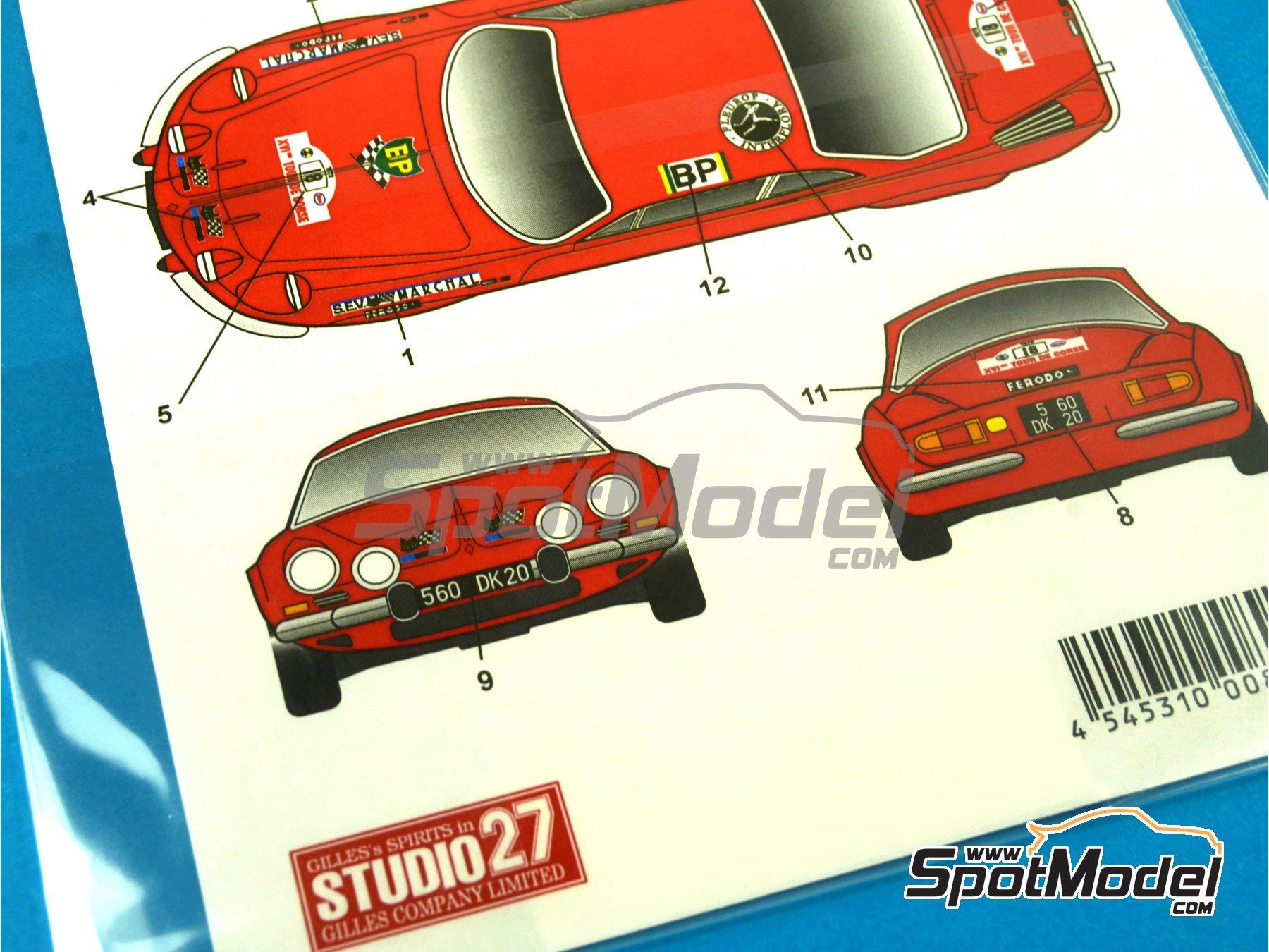 Image 4: Renault Alpine A110 Doria - Rally Tour de Corse 1972 | Decoración en escala1/24 fabricado por Studio27 (ref.ST27-DC1032)