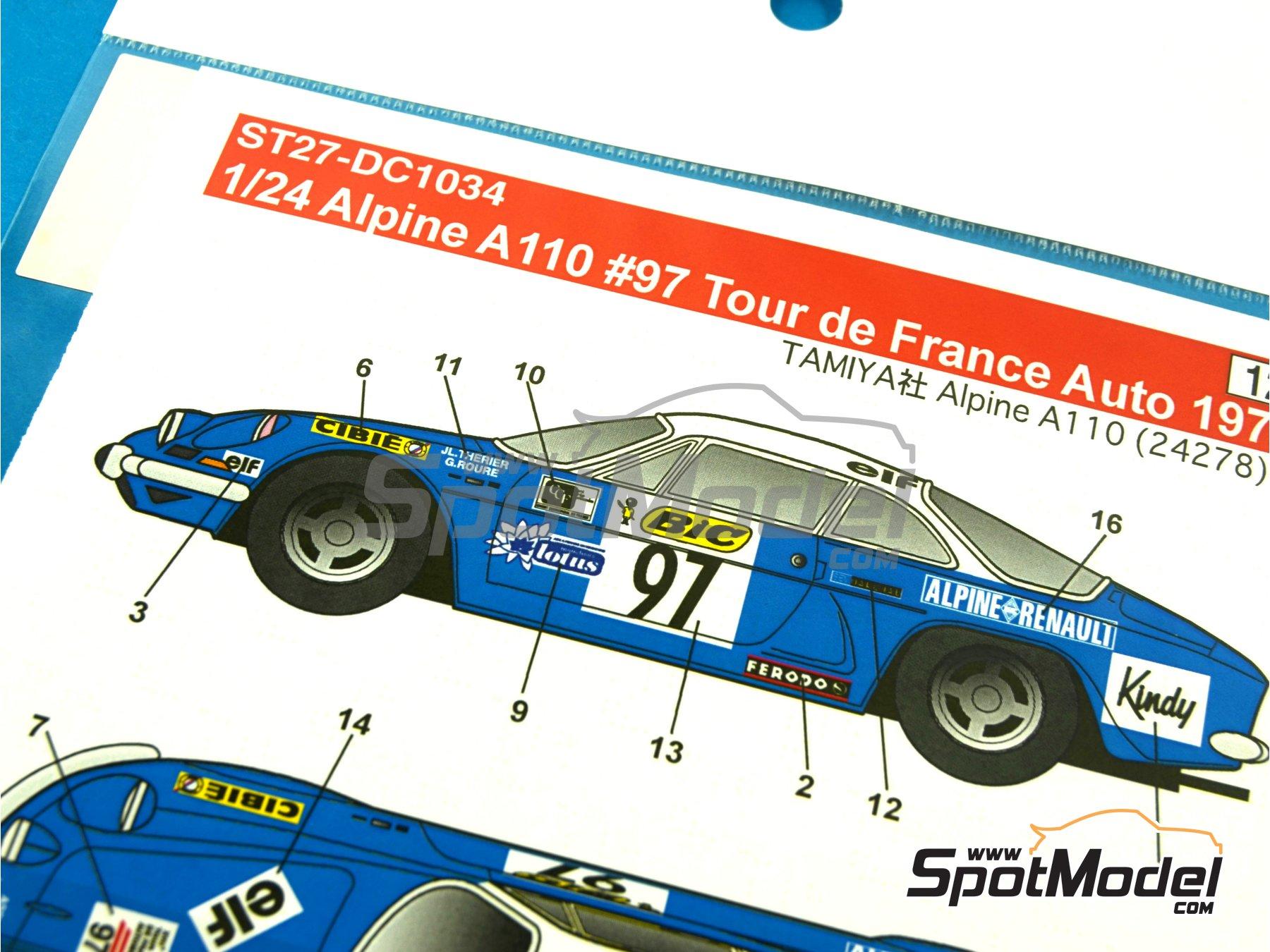Image 8: Renault Alpine A110 BIC - Rally de Montecarlo 1972 | Decoración en escala1/24 fabricado por Studio27 (ref.ST27-DC1034)