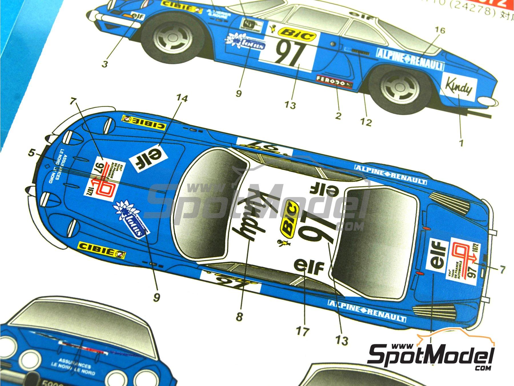 Image 10: Renault Alpine A110 BIC - Rally de Montecarlo 1972 | Decoración en escala1/24 fabricado por Studio27 (ref.ST27-DC1034)