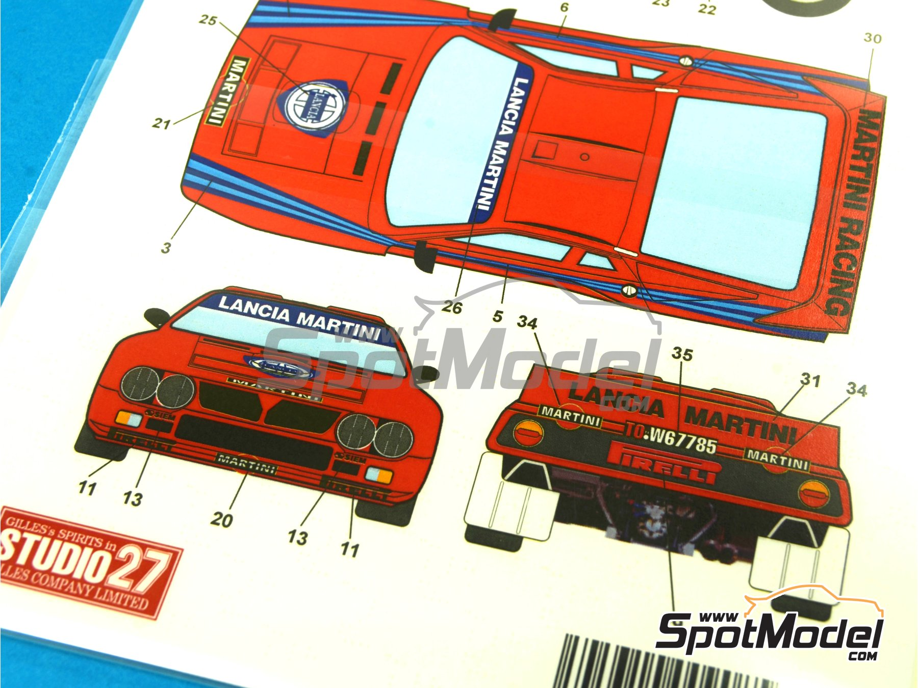 Image 6: Lancia 037 Rally Martini - Shakedown - Pirelli Testing - Portugal Rally 1985 | Marking / livery in 1/24 scale manufactured by Studio27 (ref. ST27-DC1035)