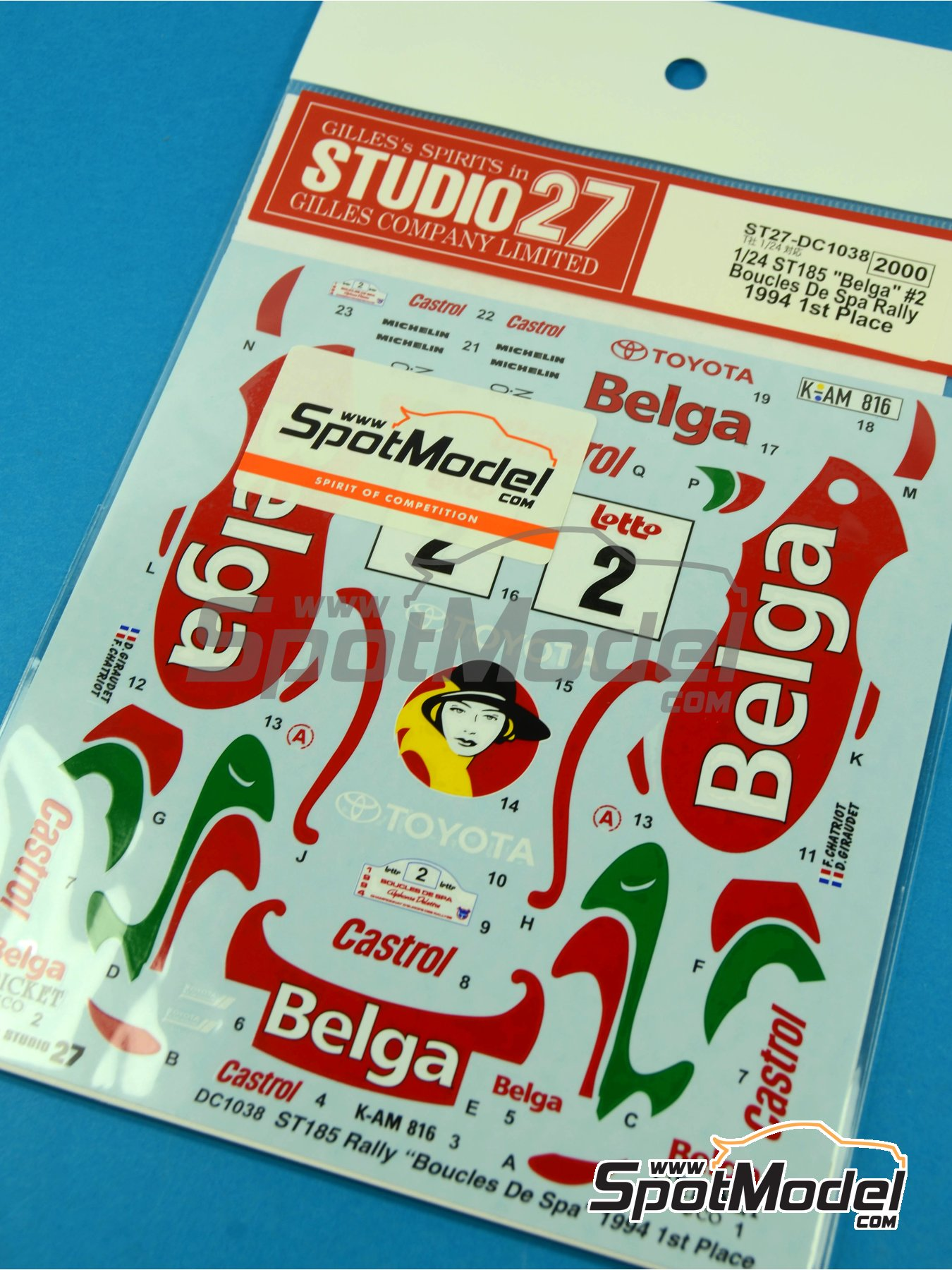 Toyota Celica GT-Four WRC Belga - Boucles de SPA 1994 | Marking / livery in 1/24 scale manufactured by Studio27 (ref.ST27-DC1038) image