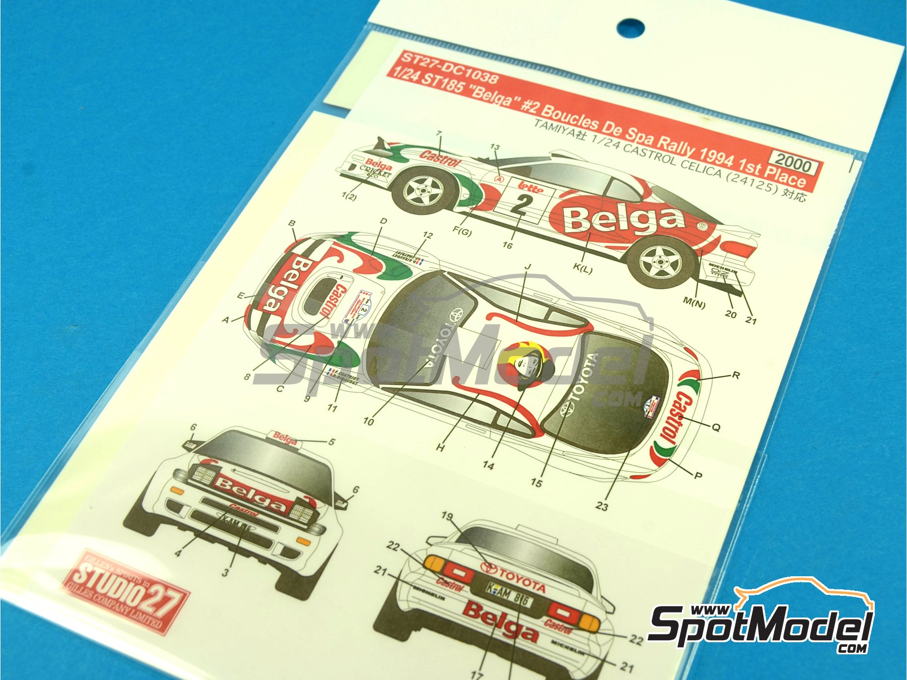 Image 1: Toyota Celica GT-Four WRC Belga - Boucles de SPA 1994 | Marking / livery in 1/24 scale manufactured by Studio27 (ref.ST27-DC1038)