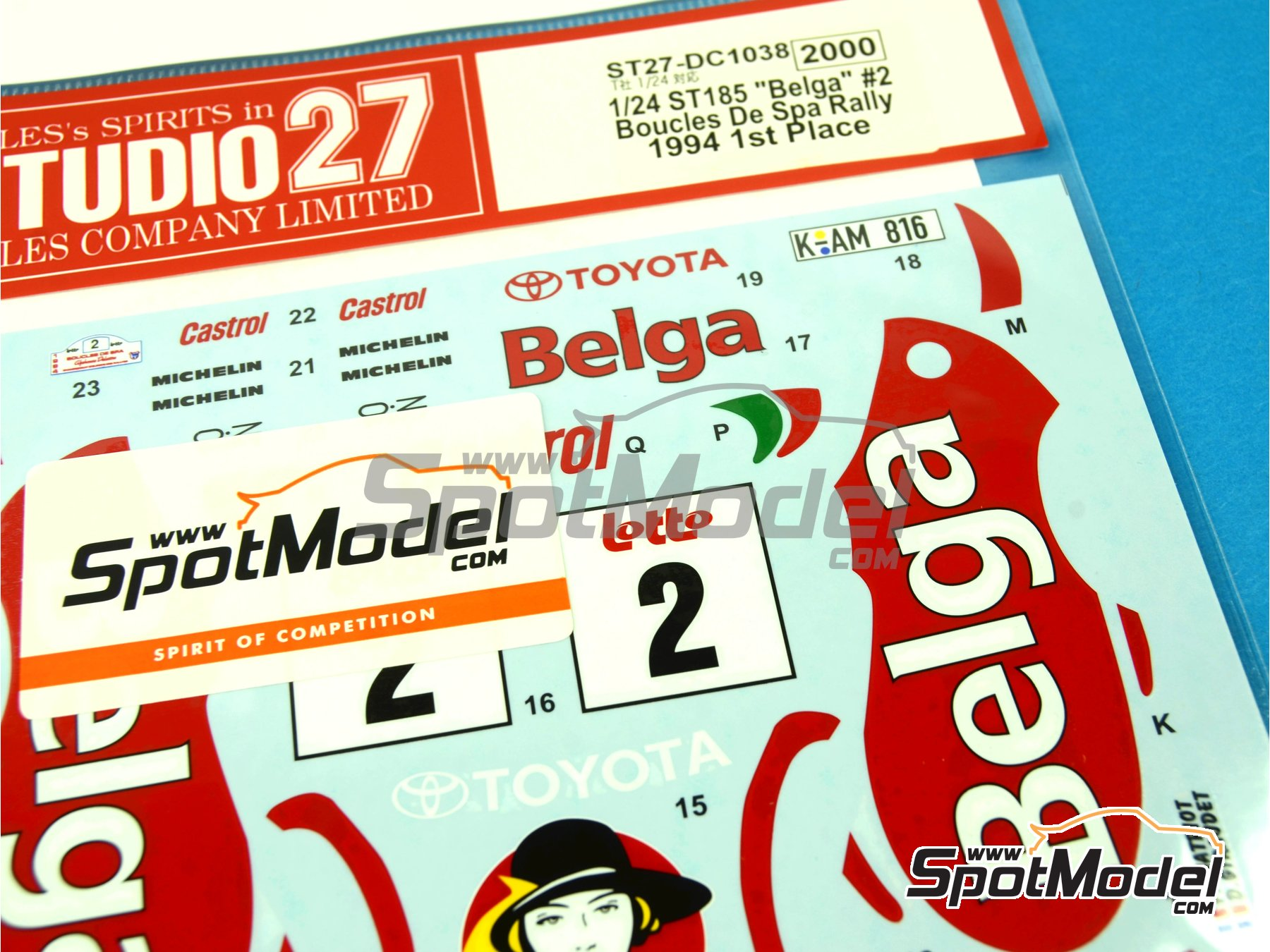 Image 4: Toyota Celica GT-Four WRC Belga - Boucles de SPA 1994 | Marking / livery in 1/24 scale manufactured by Studio27 (ref.ST27-DC1038)