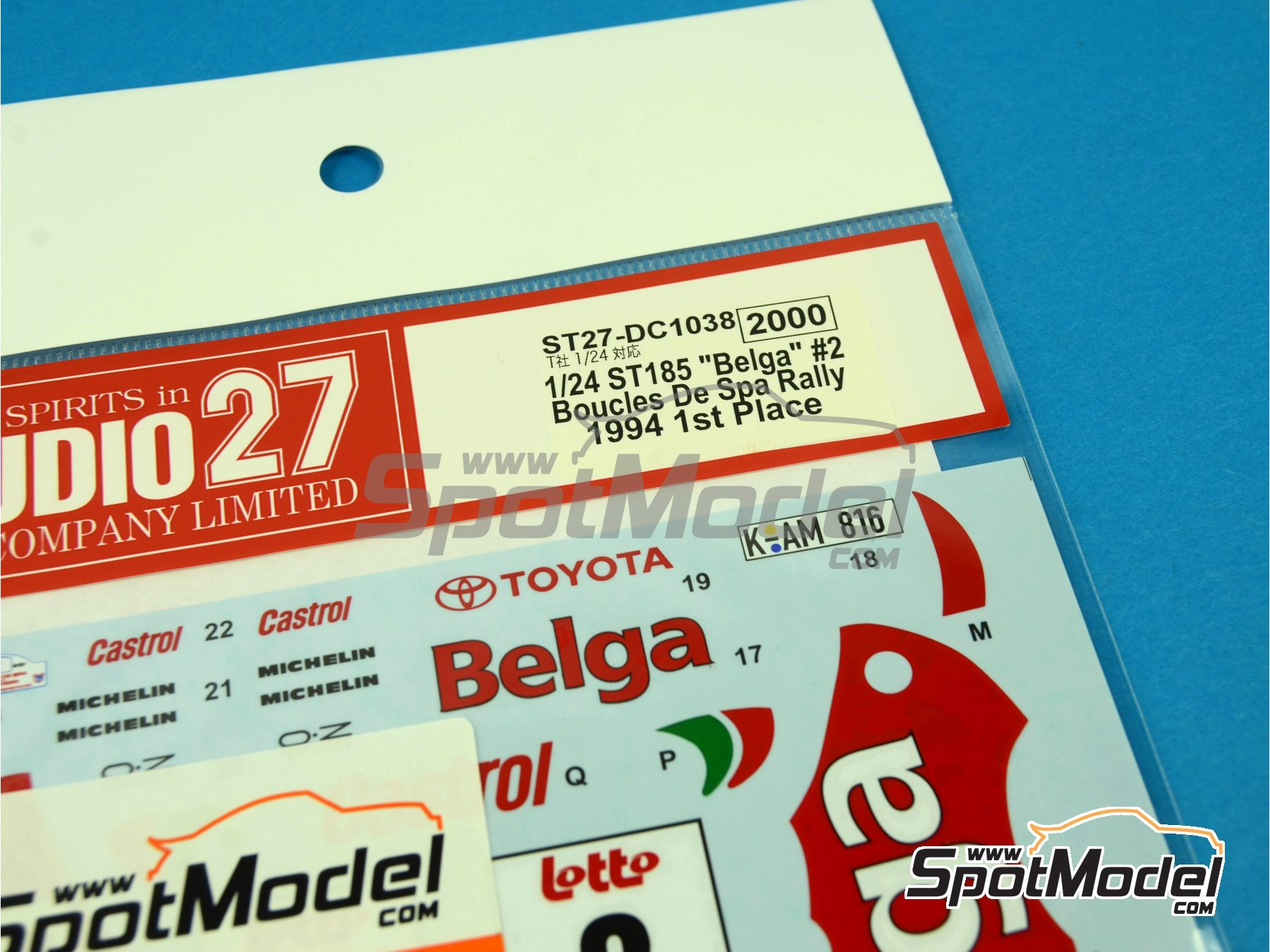 Image 5: Toyota Celica GT-Four WRC Belga - Boucles de SPA 1994 | Marking / livery in 1/24 scale manufactured by Studio27 (ref.ST27-DC1038)