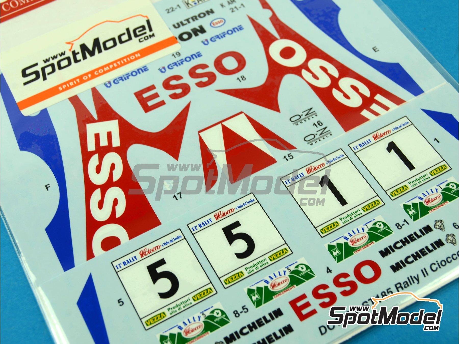 Image 2: Toyota Celica GT-Four WRC Esso - Rally del Ciocco e Valle del Serchio 1994 | Calcas de agua en escala1/24 fabricado por Studio27 (ref.ST27-DC1039)