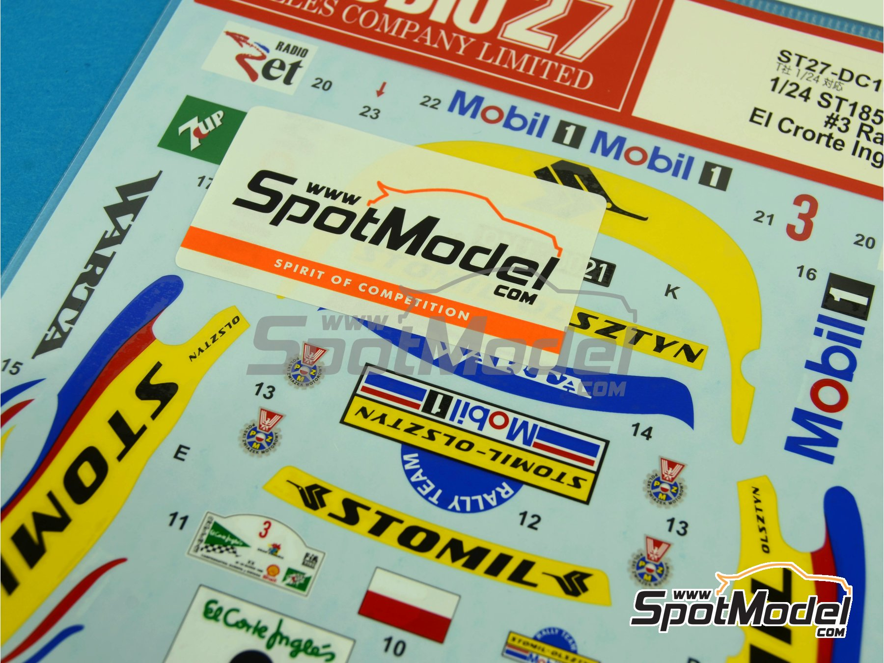 Image 3: Toyota Celica GT-Four WRC Stomil - El Corte Ingles Rally 1996 | Marking / livery in 1/24 scale manufactured by Studio27 (ref. ST27-DC1040)