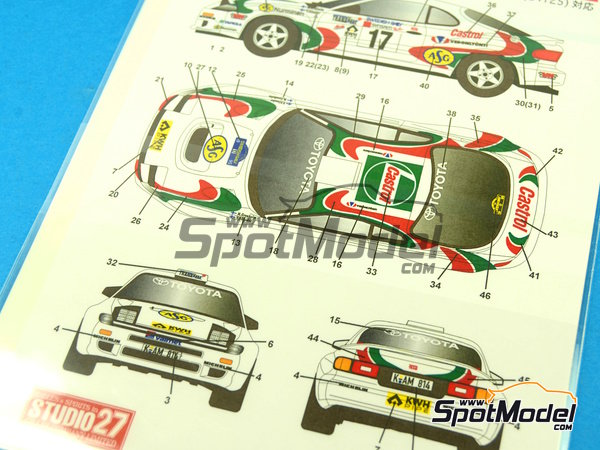 Image 1: Toyota Celica GT-Four WRC Castrol - Svezia Sweden Rally 1995 | Marking / livery in 1/24 scale manufactured by Studio27 (ref. ST27-DC1042)