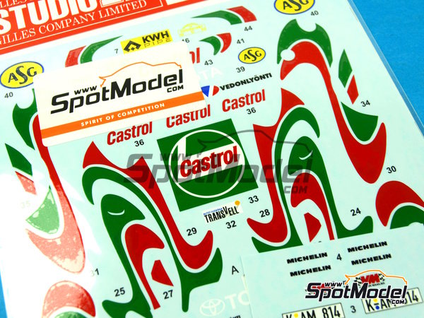 Image 4: Toyota Celica GT-Four WRC Castrol - Svezia Sweden Rally 1995 | Marking / livery in 1/24 scale manufactured by Studio27 (ref. ST27-DC1042)
