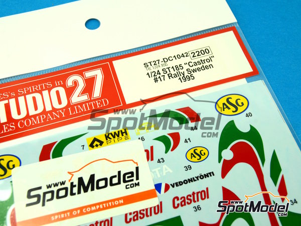 Image 5: Toyota Celica GT-Four WRC Castrol - Svezia Sweden Rally 1995 | Marking / livery in 1/24 scale manufactured by Studio27 (ref. ST27-DC1042)