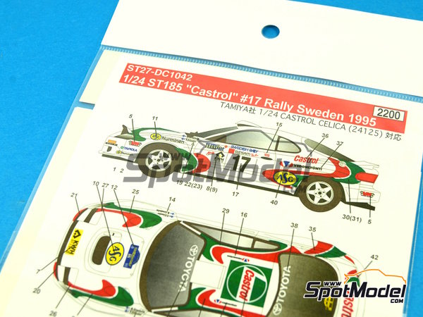 Image 6: Toyota Celica GT-Four WRC Castrol - Svezia Sweden Rally 1995 | Marking / livery in 1/24 scale manufactured by Studio27 (ref. ST27-DC1042)