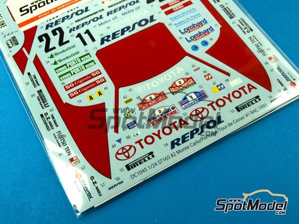Image 4: Toyota Celica GT-Four ST165 Marlboro - Rally de Portugal, Rally Tour de Corse 1991   Calcas de agua en escala1/24 fabricado por Studio27 (ref.ST27-DC1043)