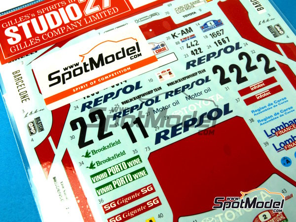 Image 6: Toyota Celica GT-Four ST165 Marlboro - Rally de Portugal, Rally Tour de Corse 1991   Calcas de agua en escala1/24 fabricado por Studio27 (ref.ST27-DC1043)