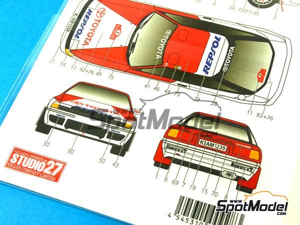 Image 9: Toyota Celica GT-Four ST165 Marlboro - Rally de Portugal, Rally Tour de Corse 1991   Calcas de agua en escala1/24 fabricado por Studio27 (ref.ST27-DC1043)
