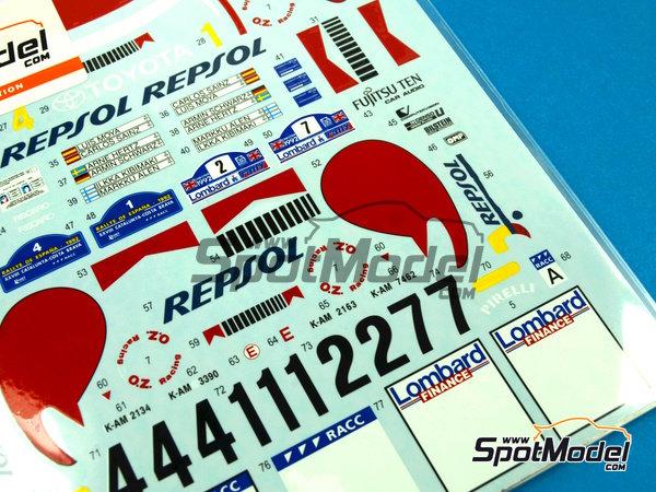 Image 4: Toyota Celica Marlboro - Rally de Cataluña Costa Dorada RACC, Rally de Inglaterra RAC 1992 | Decoración en escala1/24 fabricado por Studio27 (ref.ST27-DC1045)