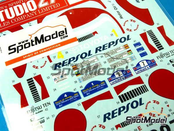 Image 5: Toyota Celica Marlboro - Rally de Cataluña Costa Dorada RACC, Rally de Inglaterra RAC 1992 | Decoración en escala1/24 fabricado por Studio27 (ref.ST27-DC1045)